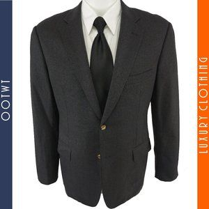 PAUL STUART 39R Gray Full Canvas Blazer Sport Coat